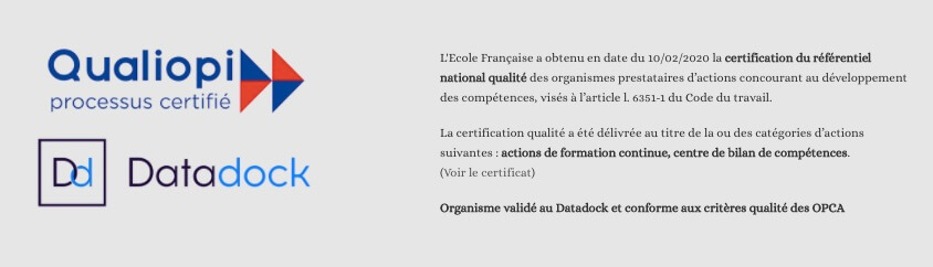 certification  formation l ecole francaise