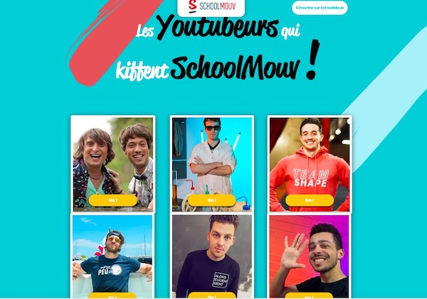 site school mouv youtuber