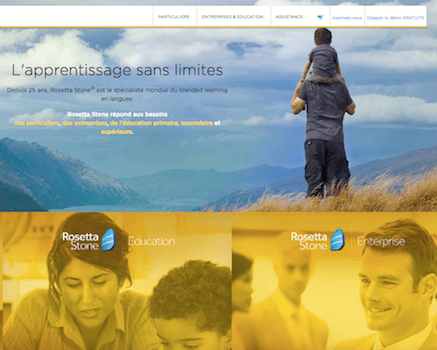 exemple interface site rosetta stone